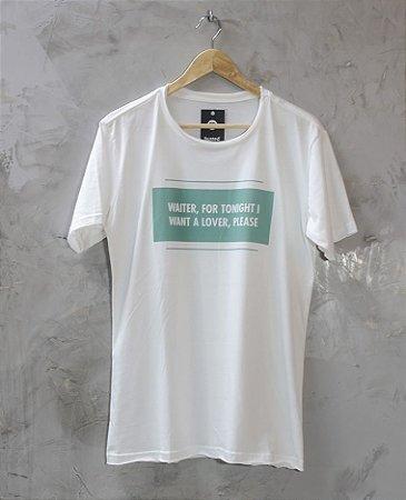 Camiseta Gola Redonda a Fio Branca Waiter