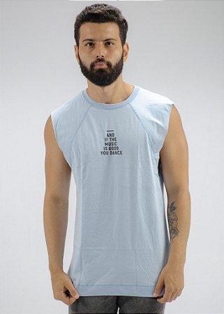 Camiseta Regata Machão Azul Claro Eyes