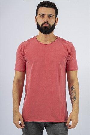Camiseta Gola Redonda a Fio Vermelha Básica