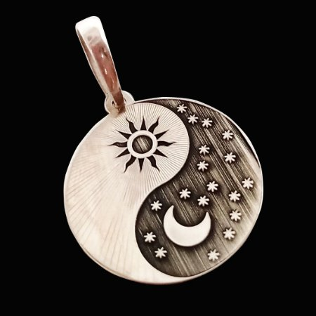 Pingente Yin Yang Sol Lua