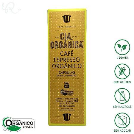 Café Orgânico em Cápsulas Nespresso® 10 cápsulas - Cia Orgânica