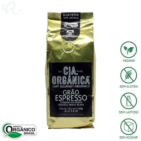 Café Orgânico Grão Espresso Supreme 100% Arábica 250g - Cia Orgânica