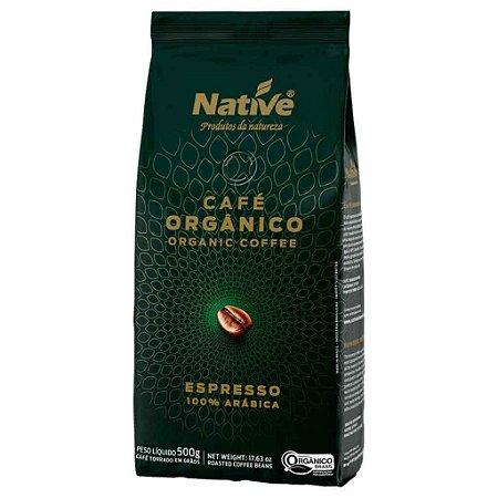 Café Orgânico em Grãos Torrado 500g - Native