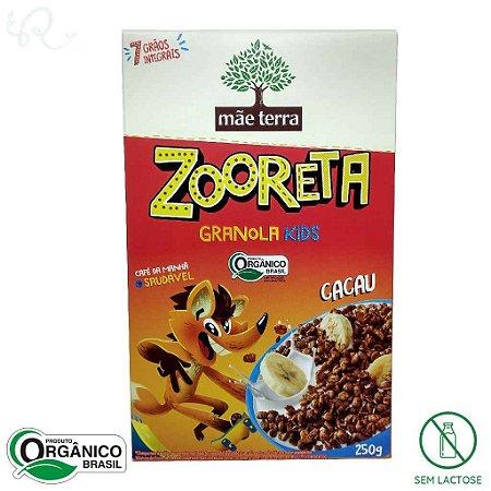 Cereal Infantil Zooreta Orgânico sabor Cacau 250g - Mãe Terra