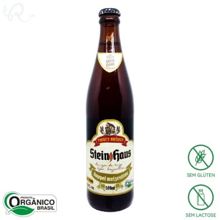 Cerveja Artesanal Orgânica Doppel Weinzenbier 500ml - SteinHaus