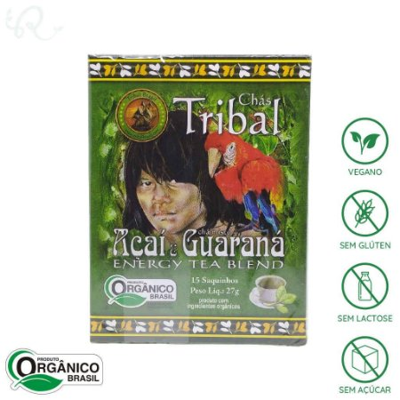 Chá Orgânico de Açaí com Guaraná 15 sachês - Tribal Brasil
