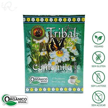 Chá Orgânico de Camomila, Melissa e Menta 15 sachês - Tribal Brasil