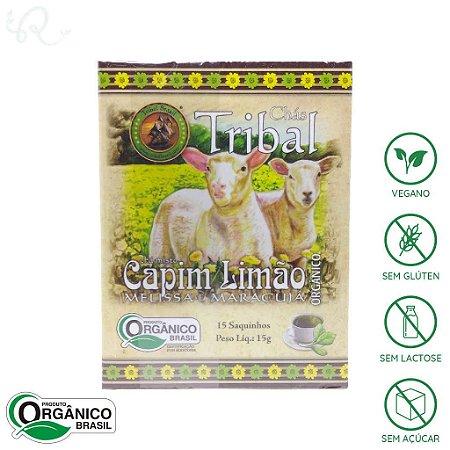 Chá de Capim Limão, Melissa e Maracujá Orgânico 15 sachês - Tribal Brasil