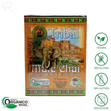 Chá Mate Chai com Especiarias Orgânico 15 sachês - Tribal Brasil