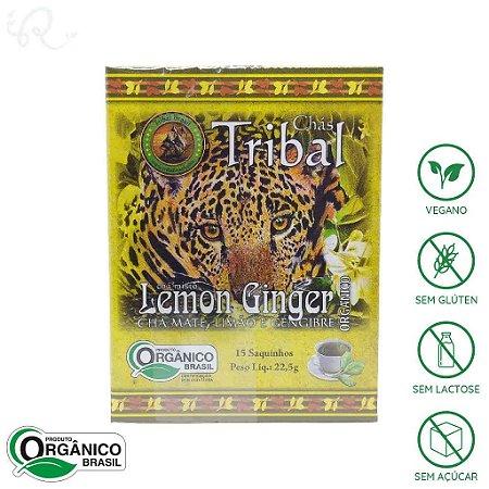 Chá Orgânico de Erva Mate Lemon Ginger 15 sachês - Tribal Brasil
