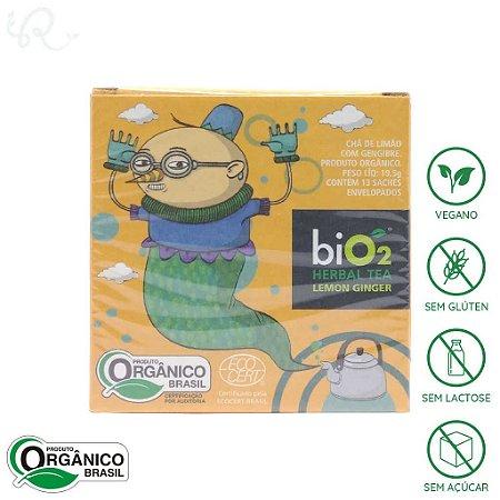 Chá Orgânico de Limão com Gengibre 13 sachês - biO2 Organic