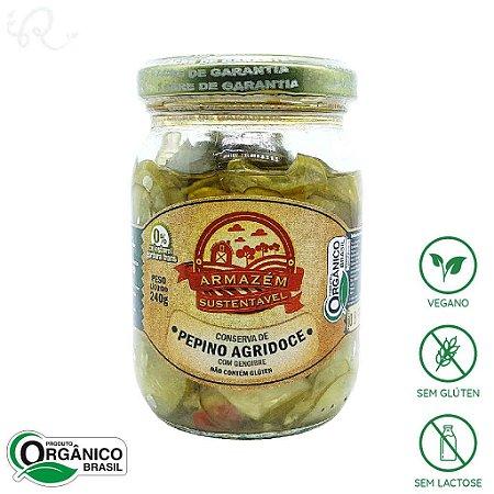 Conserva Orgânica de Pepino com Gengibre 240g - Armazém Sustentável