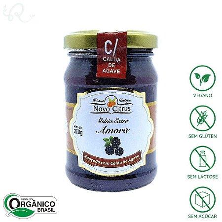 Geleia Orgânica de Amora (com Calda de Agave) 200g - Novo Citrus