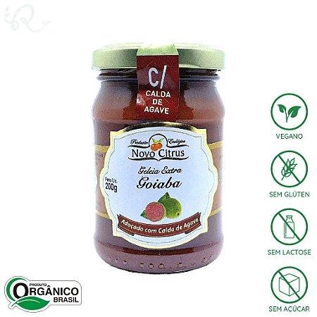 Geleia Orgânica de Goiaba (com Calda de Agave) 200g - Novo Citrus