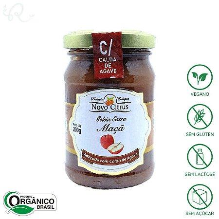 Geleia Orgânica de Maçã (com Calda de Agave) 200g - Novo Citrus