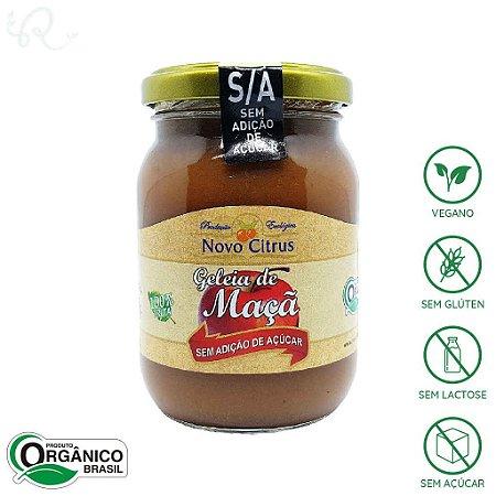 Geleia Sem Açúcar Orgânica de Maçã 275g - Novo Citrus