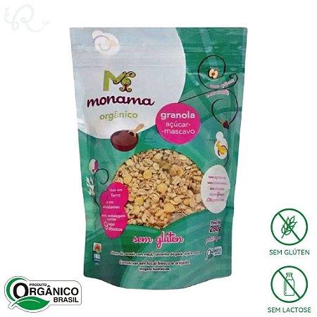 Granola Orgânica Sem Glúten com Aveia e Açúcar Mascavo 280g - Monama