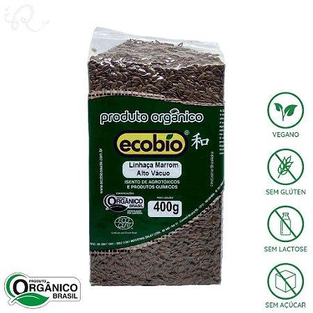 Linhaça Marrom Orgânica 400g - Ecobio