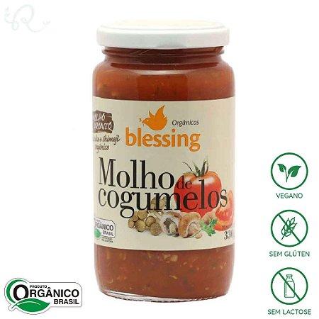 Molho de Tomate Orgânico Pronto com Cogumelo 330g - Blessing
