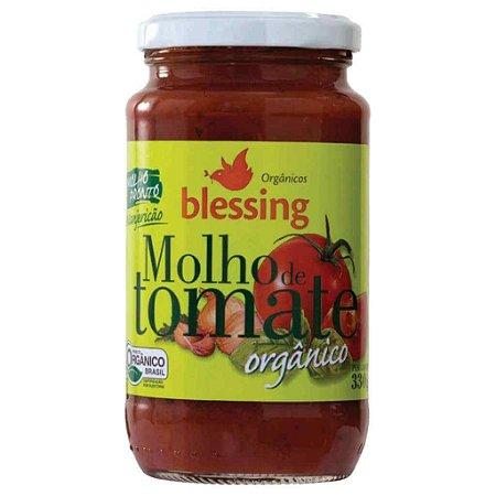 Molho de Tomate Orgânico Pronto Manjericão 330g - Blessing