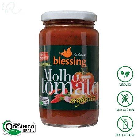 Molho de Tomate Orgânico Pronto Pimenta 330g - Blessing