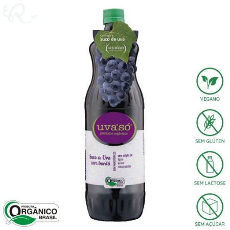Suco de Uva Orgânico Integral Bordô 1L - Uva'Só