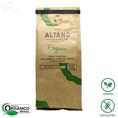 Café Orgânico Especial Torrado e Moído 100% Arábica 250g - Altano