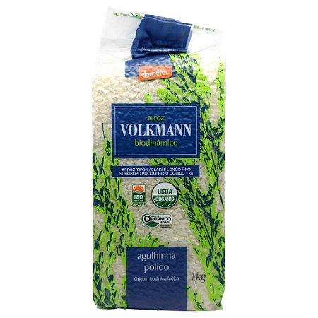 Arroz Agulhinha Polido Orgânico e Biodinâmico 1kg - Volkmann