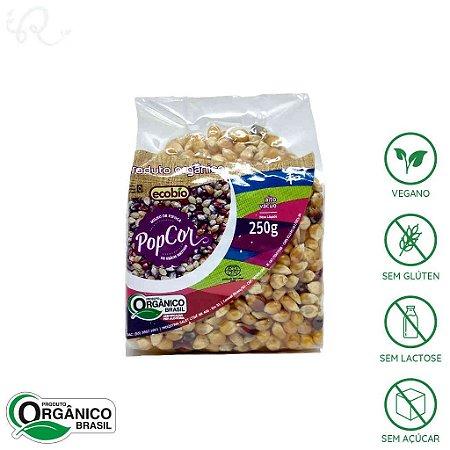 Milho para Pipoca Orgânica Colorida PopCor 250g - Ecobio
