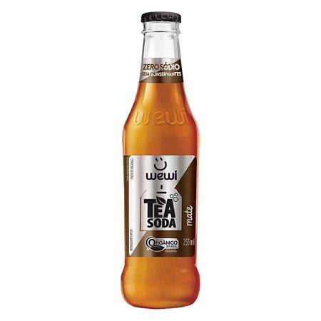Refrigerante Wewi Tea Soda Mate Orgânico 255ml - Wewi
