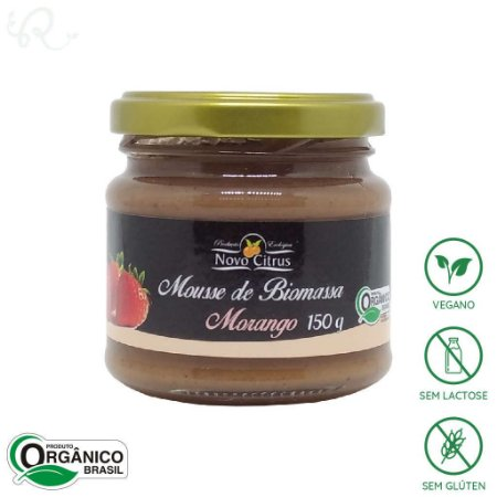 Mousse de Biomassa com Morango 150g - Novo Citrus