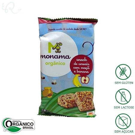 Snack Orgânico de Cereais com Maçã e Banana 30g - Monama