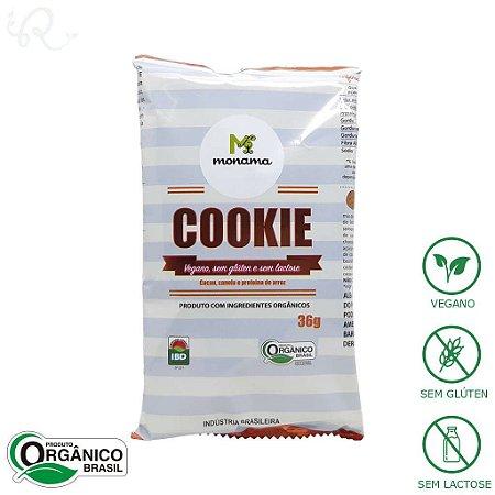Cookie Orgânico Vegano de Cacau e Canela 36g - Monama