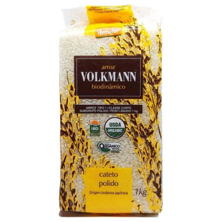 Arroz Cateto Polido Orgânico e Biodinâmico 1kg - Volkmann