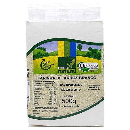 Farinha de Arroz Branco Orgânica 500g - Coopernatural