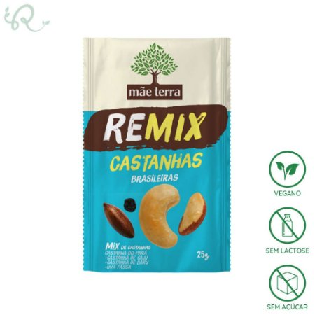 Snack Remix Castanhas Brasileiras 25g - Mãe Terra