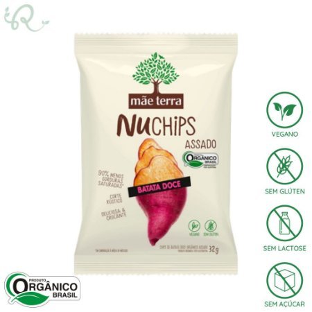 NuChips Chips Batata Doce 32g - Mãe Terra