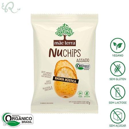 Snack Chips Batata Rústica NuChips 32g - Mãe Terra