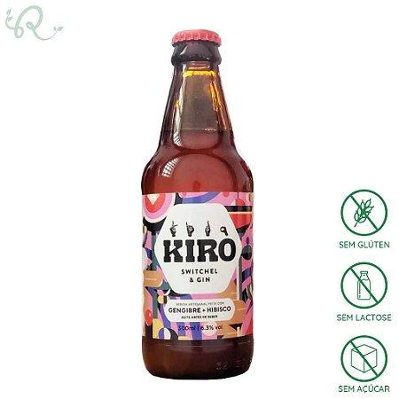 Kiro Switchel & Gin Gengibre e Hibisco 300ml - Kiro