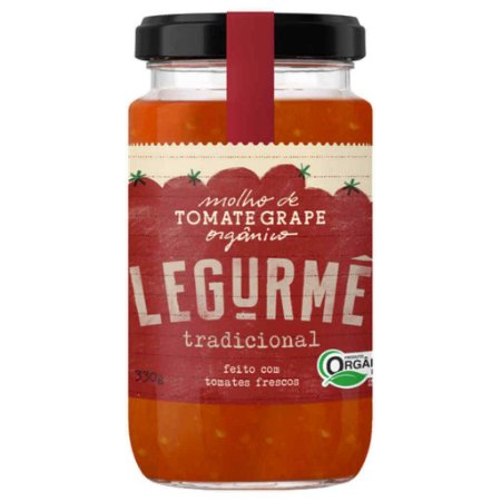 Molho de Tomate Grape Orgânico Tradicional 330g - Legurmê
