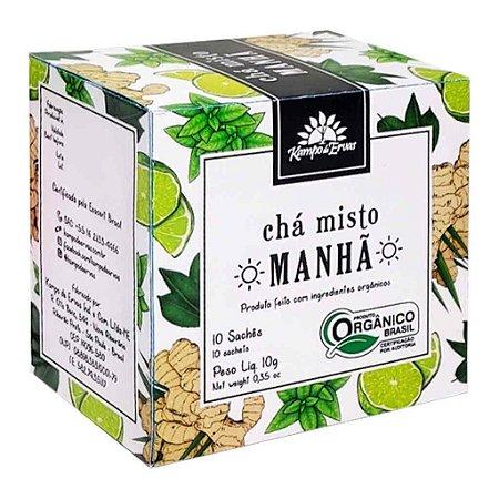 Chá Misto Orgânico Manhã Harmonia 10 Sachês - Kampo de Ervas