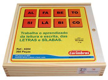 Alfabeto silábico 360 peças