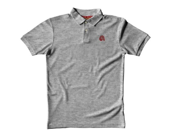 Camisa Polo Red Man - Mescla Clara