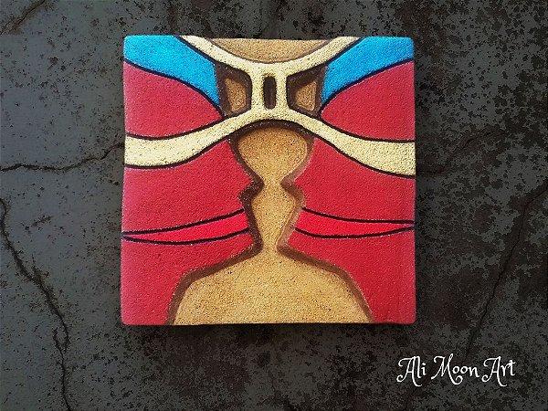 Signo de Gêmeos - Quadro de Pintura em Alto Relevo
