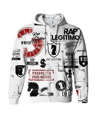 Moletom Rap legitimo 7 anos - Branco (Edição limitada)