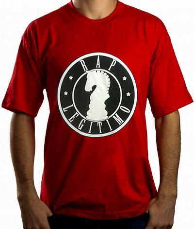 Camiseta Rap Legítimo, vermelha e preto