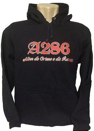 Moletom A286 I, preto e vermelho