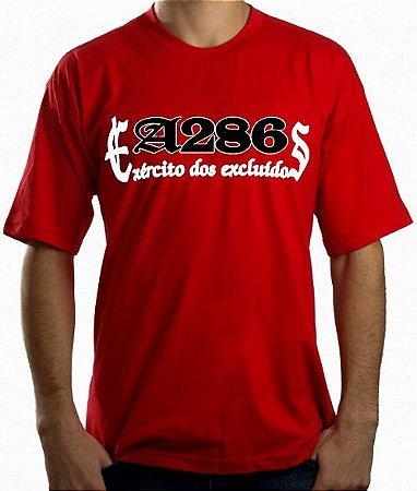Camiseta A286, Exército dos Excluídos, vermelha e preta