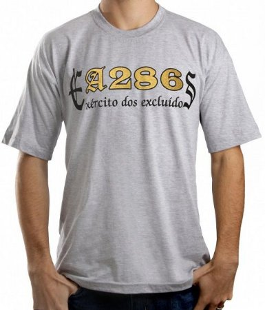 Camiseta A286, Exército dos Excluídos, cinza e dourado