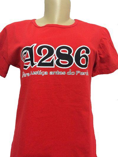 Baby look A286, vermelha e preta
